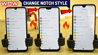 Change NOTCH Style [Without ROOT] In ANY Phone ft. Redmi Note 7/Note 7 Pro.. |  How to Change Notch?