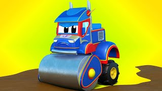 Truck cartoons for kids -  HARVESTER and MUDDY babies - Super Truck in Car City !