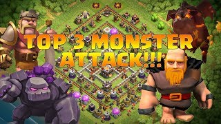 MONSTER ATTACK - TOP 3 BEST TH11 ATTACK STRATEGIES FOR TROPHY PUSH | 3 STAR ATTACKS | CLASH OF CLANS