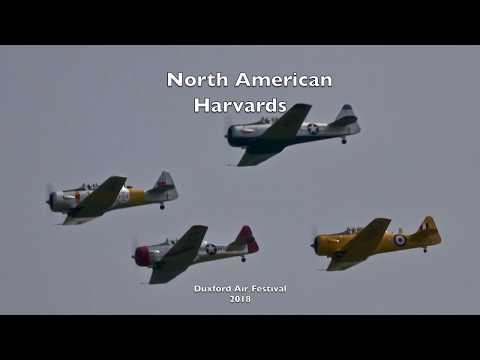 North American Harvards  - Duxford Air Festival 2018