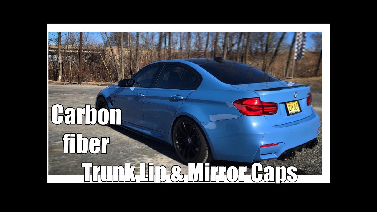 Vlog 19 Installing A Carbon Fiber Trunk Spoiler And Mirror Caps On