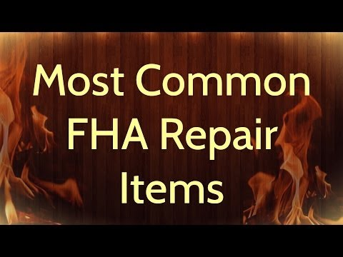 FHA Appraisal Repair Items - Rowe Appraisal Group - 847.863.5776