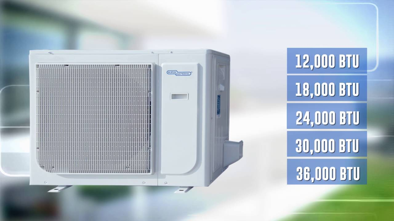General Air Conditioners Super General Ejet Series Of Split Air Conditioners Youtube