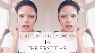 Bleaching My Eyebrows! | My Petite PenGal