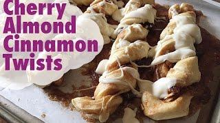 Cherry Almond Cinnamon Twists