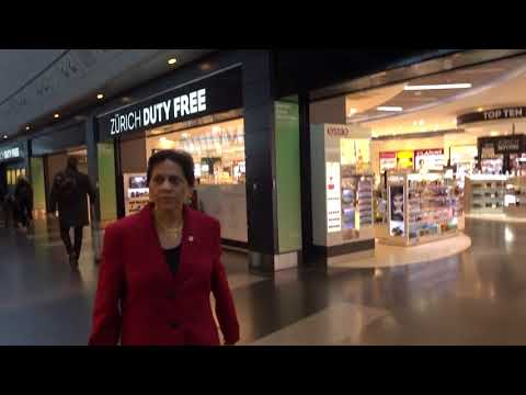 Aruna & Hari Sharma at Zurich Airport Duty Free shopping on way to Lounge, Oct 08, 2017