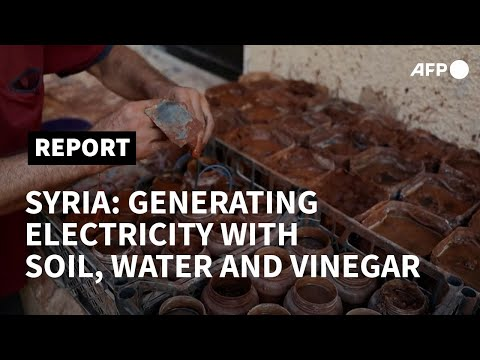 Displaced Syrian uses traditional method to generate electricity | AFP
