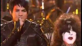 Adam Lambert & Kiss - American Idol - Final - Finale.