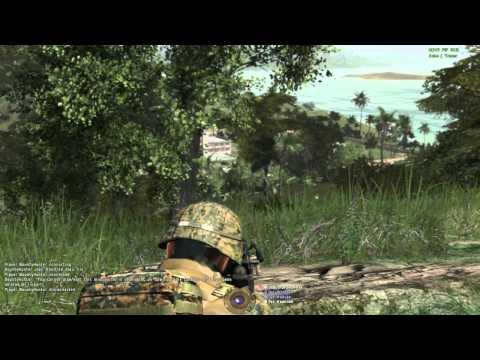 """ARMA 2 ACE - 15th MEU(SOC) Realism Unit """"Public Gold 02-12"""" Gambler View."""