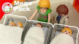 Playmobil Mega Pack Geburt von Anna , Lena und Zwillinge - Geschichten für Kinder von Familie Hauser