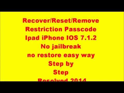 Reset / Remove Restriction Passcode on iPhone 5S/5C/5/4... | Doovi