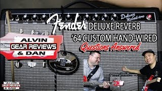 FENDER DELUXE REVERB '64 CUSTOM HAND WIRED AMP | ALVIN and DAN GEAR REVIEWS (2019)