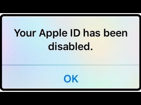 Your Apple ID Has Been Disabled ! How To FIX ISO *2018*