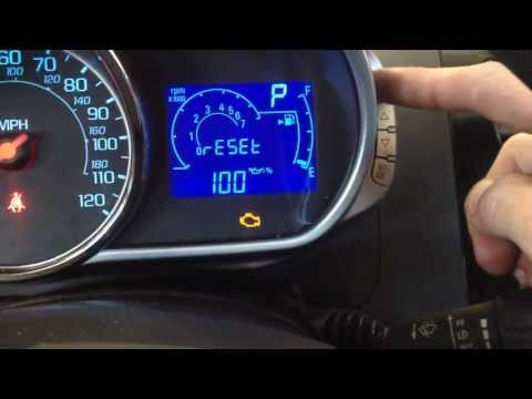 How to Reset the Oil Life on a Chevy Spark