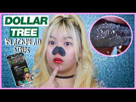 DOLLAR TREE Blackhead Strips? Does it Work?!