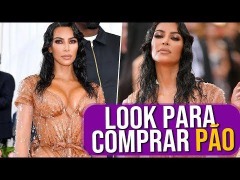"""Kim Kardashian em """"Look Para Comprar Pão"""""""