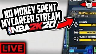 100K SUB GRIND! NBA 2K20 NO MONEY SPENT MYCAREER - LIVESTREAM #1