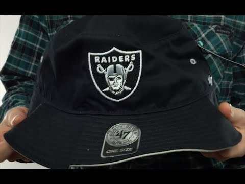 1628dc75383ad Raiders  KIRBY BUCKET  Black Hat by Twins 47 Brand - YouTube