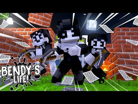 Minecraft BENDY'S LIFE - BORIS HELPS BENDY AND ALICE ANGEL ESCAPE THE PRISON!! Baby Leah