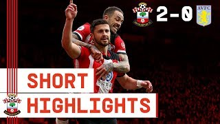 90-SECOND HIGHLIGHTS: Southampton 2-0 Aston Villa | Premier League