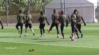 Arsenal training pre Europa League vs Rennes