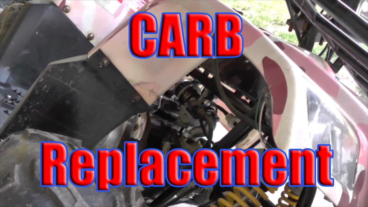 hight resolution of how to replace carb chinese made taotao 110 atv