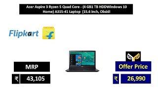Acer Aspire 3 Ryzen 5 Quad Core - (4 GB1 TB HDDWindows 10 Home) A315-41 Laptop  (15.6 inch, Obsidi