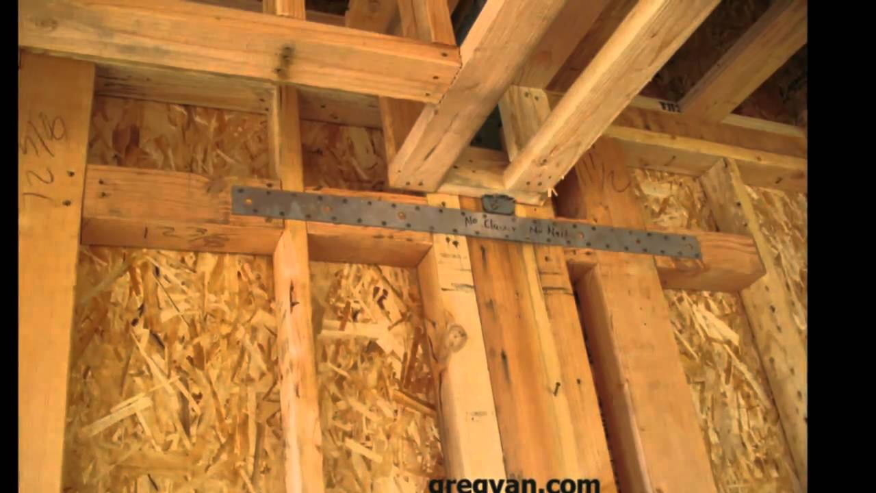 Metal Straps And Framing Plate Connections House Framing
