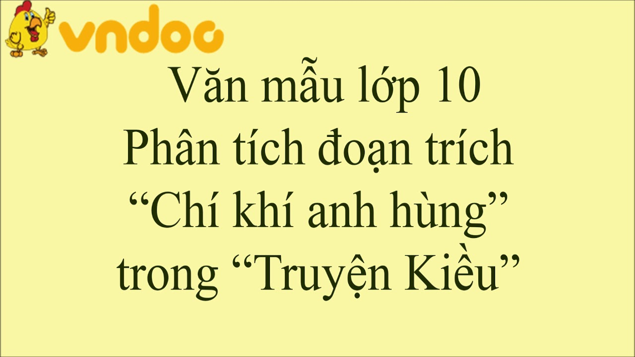 """Phân tích đoạn trích """"Chí khí anh hùng"""" trong """"Truyện Kiều"""" của Nguyễn Du - VnDoc.com"""