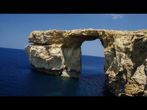 Malta's Azure Window collapsed into the sea