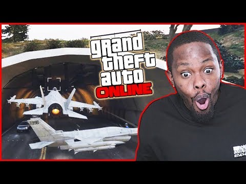 FLYING FIGHTER JETS THROUGH TUNNELS! - GTA Online Gameplay
