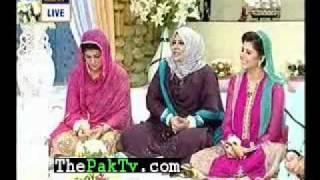 hooria faheem and sisters in good morning pakistan p-5