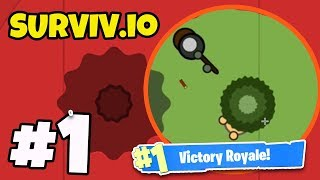 *NEW* .io BATTLE ROYALE GAME! - Surviv.io #1 - (BEST .io GAME YET?!)