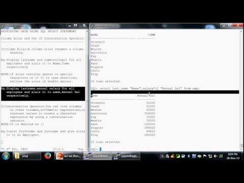 1.4 Column Alias & Concatenation Operator