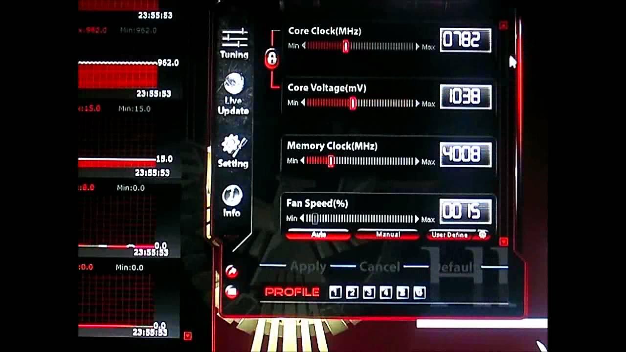 ASUS GeForce GTX580 DirectCU II - GPU Tweak Software and Fan Noise  Comparison