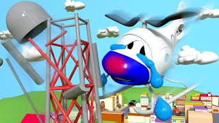 Look out Hector the Helicopter !! - Amber the Ambulance in Car City l Cartoons for Children