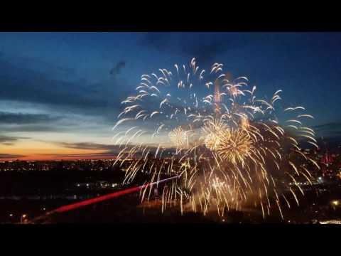 Fireworks, Canada Day 150, Edmonton, Alberta, Canada
