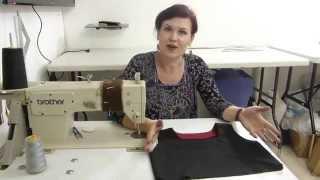 איך תופרים עיבוד/ How to sew a neckline facing