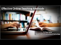 Effective Online Teaching Methods