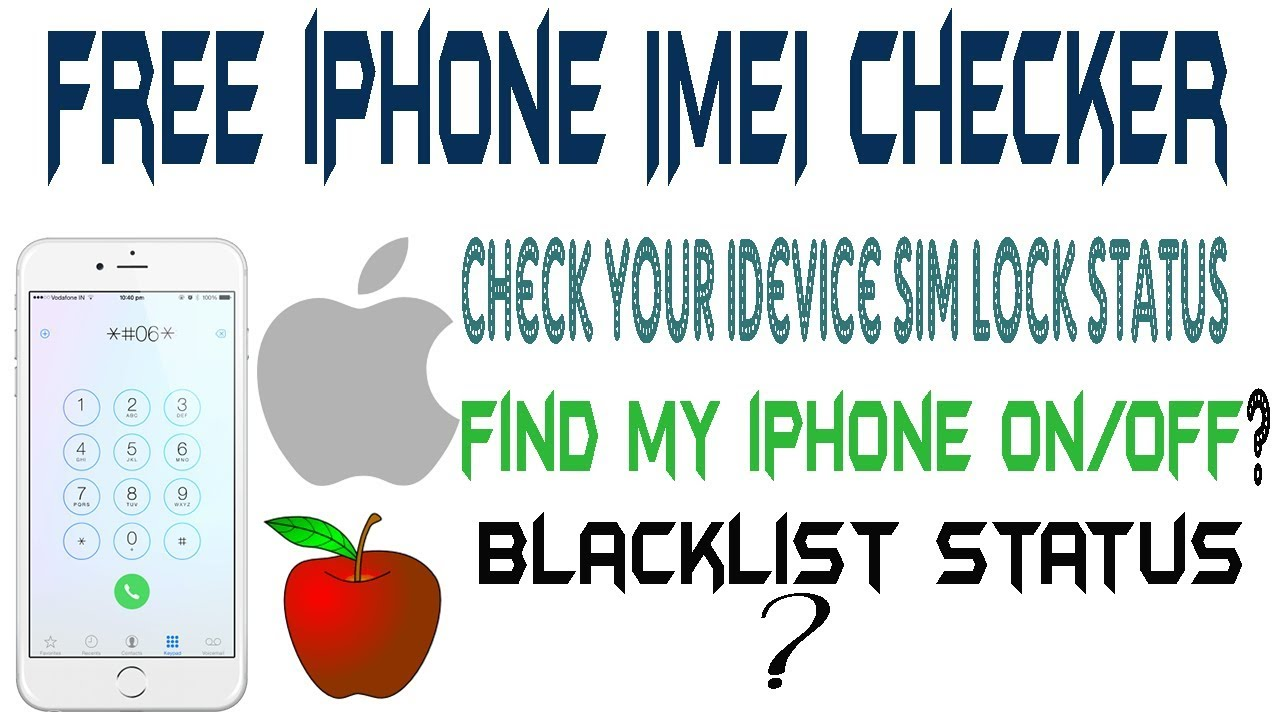 how to check iphone imei | iphone imei check carrier free |