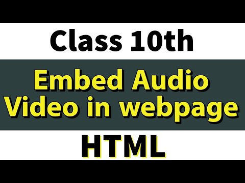 Insert Audio Video In Html Page   Class 10th   Computer Applications
