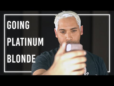 DIY Platinum Blonde at Home for Men | Bleaching My Hair for the First Time