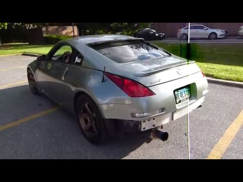 Repeat 350z with Megan test pipes, y pipe and Agency Power single