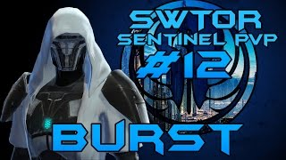 SWTOR 55 Combat Sentinel PvP #12 - Ancient Hypergate BURST Patch 2.10 [Pot5]