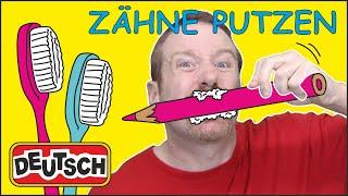 Putz deine Zähne-Song Kindergeschichte von Steve and Maggie Deutsch | Sprich fließend Deutsch
