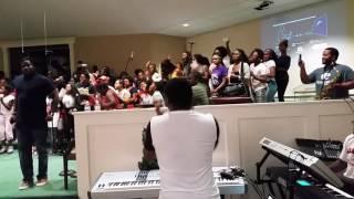 YOTWS Praise Break in rehearsal- Up, Up, Up