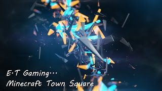 minecraft square town