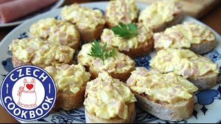 Ham Spread Recipe -  Šunková Pomazánka - Czech Cookbook