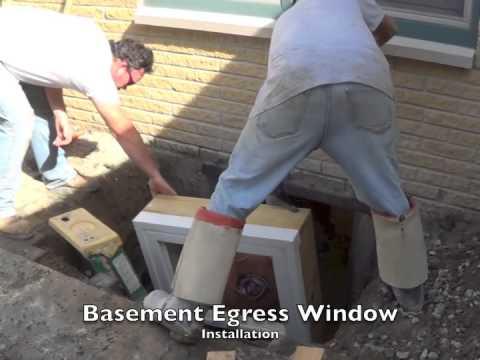 Egress Window And Well Installation Michigan Youtube