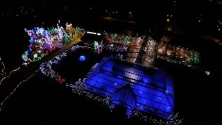 Stan Hywet Hall and Gardens Deck the Hall 2014 Christmas Lights Drone Aerial Video